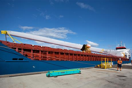 Blade Dynamic' modular blade arrives at the ORE Catapult testing centre in Blyth