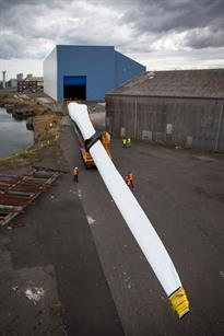 It is the longest blade to be tested at ORE Catapult's centre in north east England
