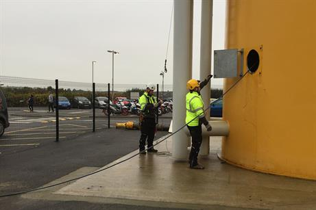 The National Wind Farm Training Centre has the UK's only onshore training tower with a real transition piece