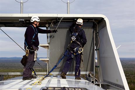 The technicians carry out physical condition checks