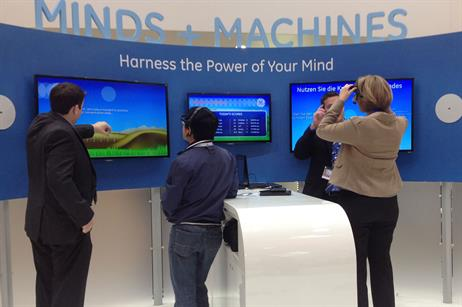 Go to the GE stand and learn to control machines with your mind