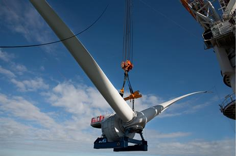 Alstom's Haliade 150-6MW turbine has been installed