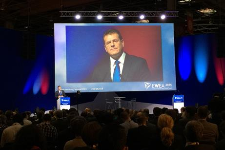 EC vice president for Energy Union Maros Sefcovic addressed delegates before presenting Energy Union update