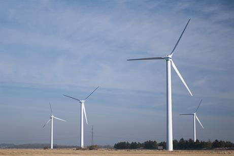 The 35 Vestas V40 600kW wind turbines had been in operation since 1996