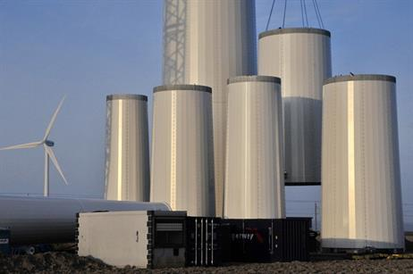 These modules are stacked to a height of 133 metres