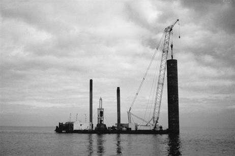 Piling work at the Lely development in 1994 shows how much things have changed