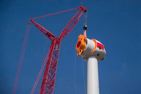 The nacelle following installation