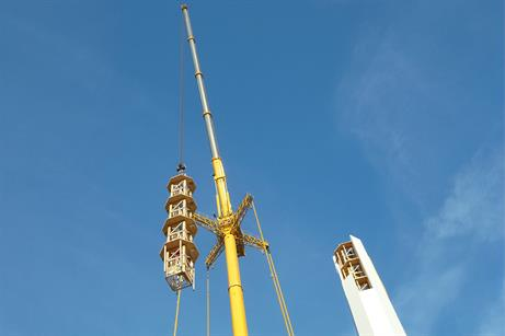 Manufacturer TimberTower is trialing octagonal-shaped wooden wind turbine towers
