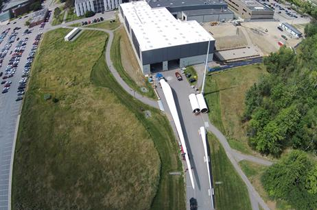 The University of Maine has taken delivery of a 54-metre blade