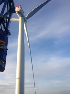 The first commercial 6MW turbine was installed at Westermost Rough this week