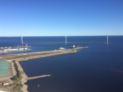 Onshore or offshore? Turbines are installed on man-made islands