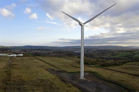 JUNE Two Senvion MM100 turbines were installed at an old coal mine in Wales