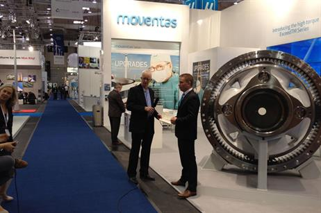 Windpower Monthly took Windpower TV to Hamburg. Here technology editor Eize de Vries is interviewing on the Moventus stand