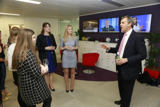 Charles Lewington, MD of Hanover, which hosted the event, welcomes the 30 Under 30
