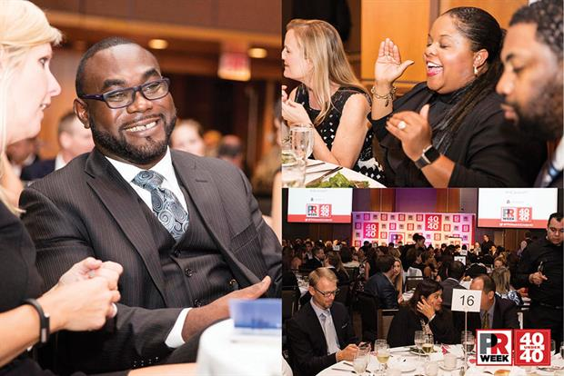 Left: Conroy Boxhill, SVP, corporate and crisis communications, Edelman; top right, center: Nicole Dye-Anderson, assistant VP, media relations, Barclaycard US