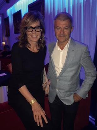 Here is Alan Edwards, Outside Organisation founder, with Allison Janney who played White House press secretary CJ Cregg in The West Wing – real life meets fictional PR. The pair were at an event at The Playboy Club for the band Jack Pack, who were finalists on last year's Britain's Got Talent.