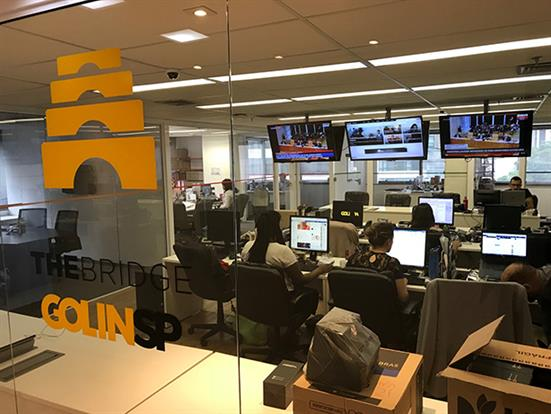 Golin's Bridge newsroom in Brazil