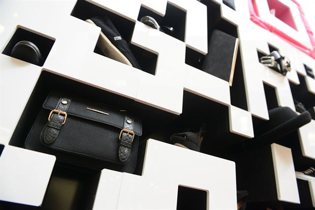 Shoppers could scan the three-metre-square code to enter competitions and access content such as styling tips and special offers.