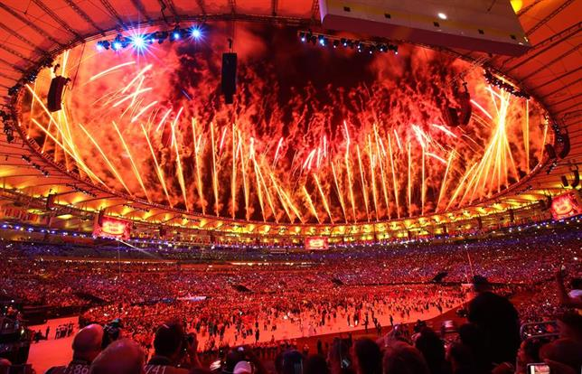 The 2016 Olympic ceremony in Rio kicked off by celebrating diversity from around the globe. [Image via Olympic's Facebook page].