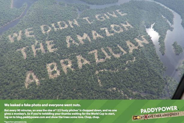 Paddy Power admit to the doctored photos