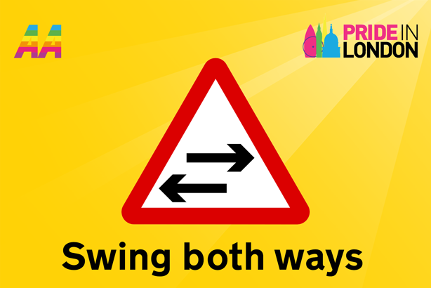 Regular meaning: 'Two way traffic crosses one road'