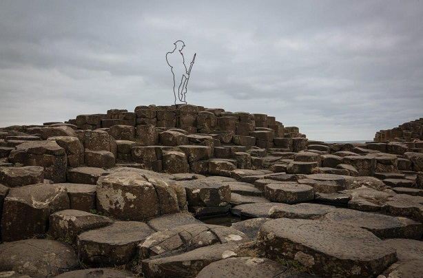 WWI Tommies appear at Giants Causeway in Bushmills, County Antrim today ahead of the launch of There But Not There.
