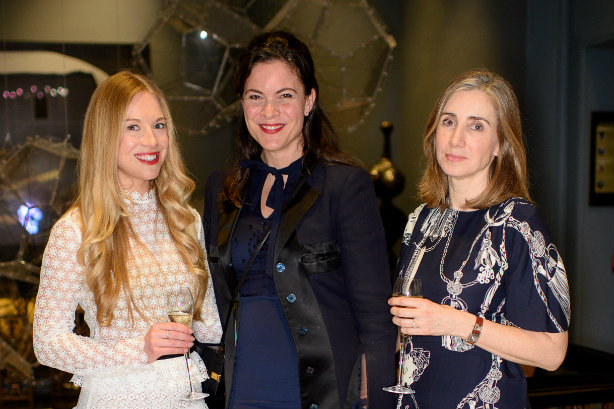 (l-r) Rosie Shephard (Rocco Forte Hotels), Silvia Steffan-Ehl (Cartier) and Fiona Rushton (Hèrmes)