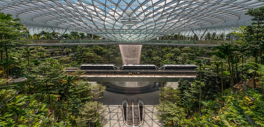 Credit: Jewel Changi Airport Development. Credit: Charu Kokate, Safdie Architects