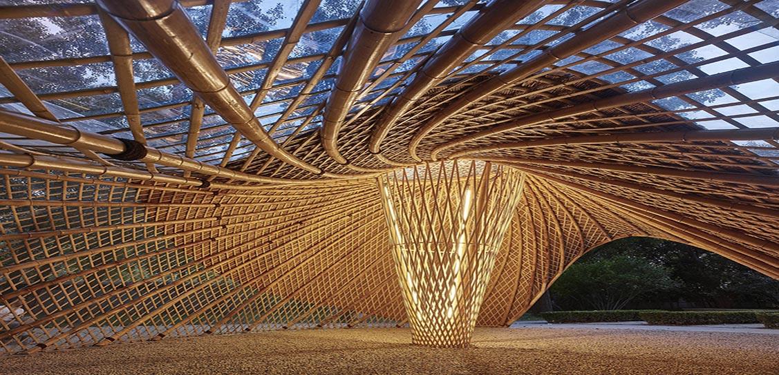 Swirling Cloud: Bulletin Pavilion for BJFU Garden Festiva by SUP Atelier