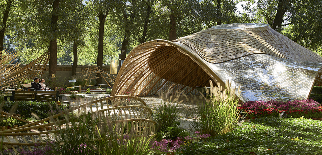 Swirling Cloud: Bulletin Pavilion for BJFU Garden Festiva by SUP Atelier