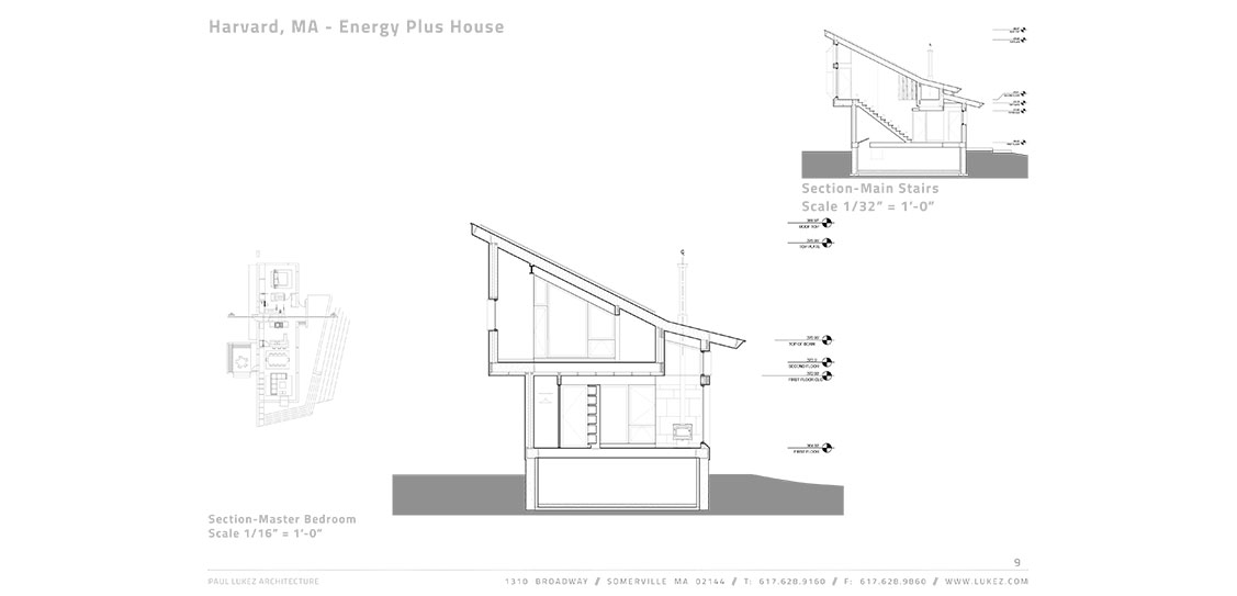 Harvard MA - Energy Plus House - Paul Lukez Architecture