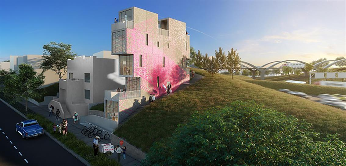Mutuo has created an affordable housing concept for Los Angeles. Picture: Caca Santoro Photography