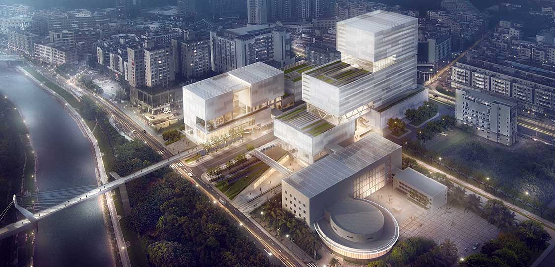 Shenzhen Longhua Archive Library by Cultural Architecture