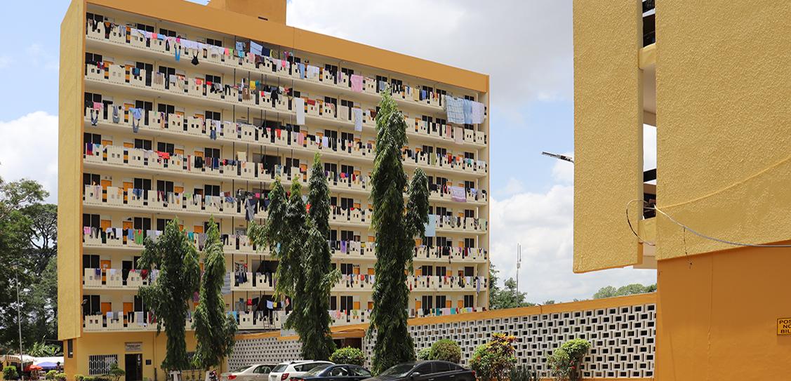 Africa Hall (Women's Hall 6), Kumasi, (Ghana), design 1964 -65. Architects Office UST, John Owusu-Addo/Miro Marasović (chief university architect), Niksa Ciko (architect in charge).