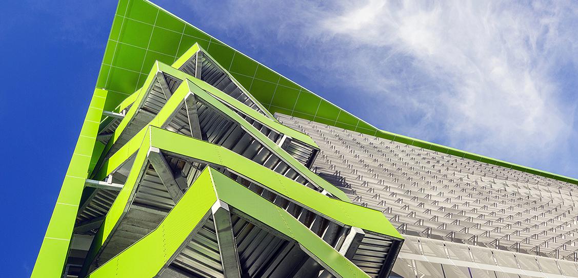 Center Street Parking Garage by Marcy Wong Donn Logan Architects