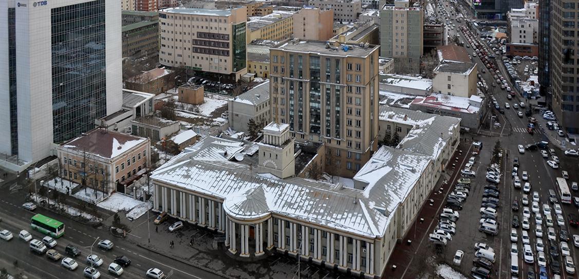 The Center of Ulaanbaatar (Mongolia). Master plan by Giprogor (USSR), 1954.