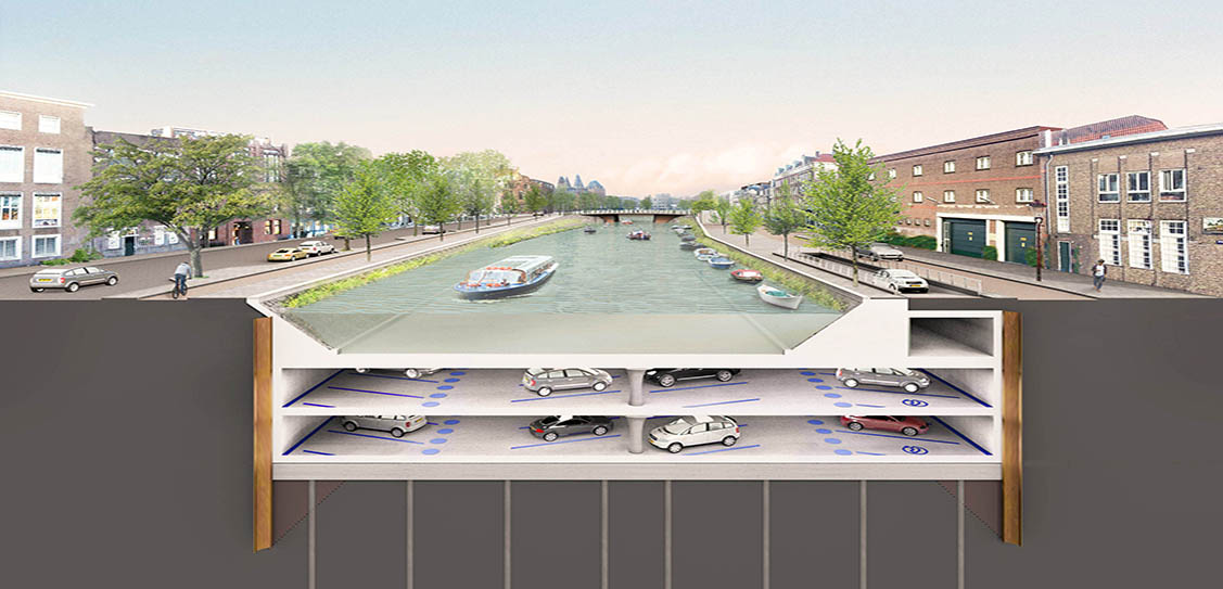 Albert Cuyp Underwater parking garage Amsterdam - ZJA Zwarts & Jansma Architects