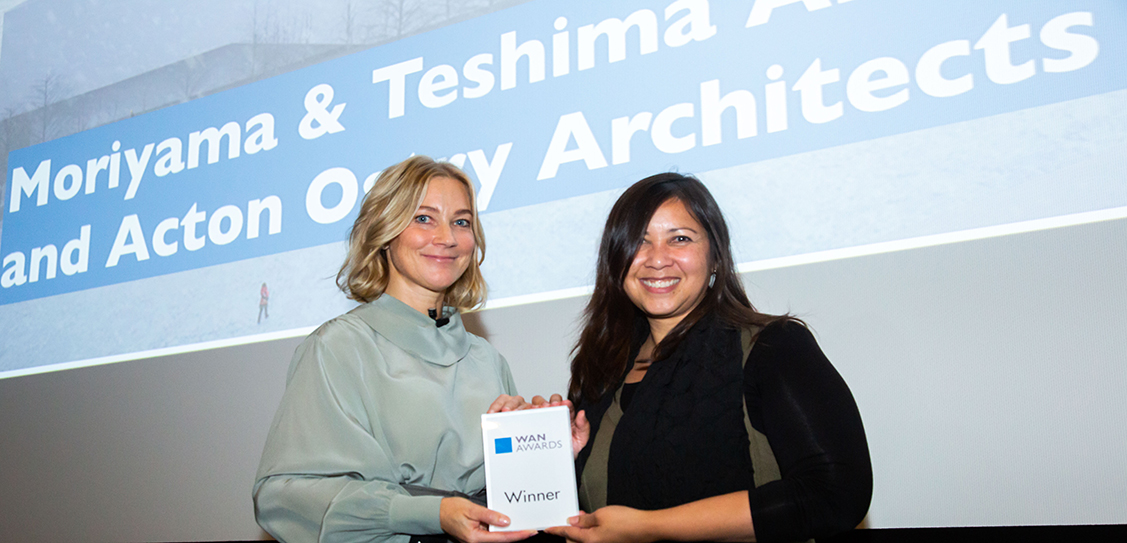 Moriyama & Teshima Architects and Acton Ostry Architects Inc. take home the Gold award for their 'The Arbour' - George Brown College Tall Wood Building project, in the Future Projects - Education category