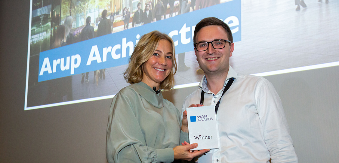Its a Gold Award for Arup Architecture in the Future Projects - Commercial category, for 1 Triton Square