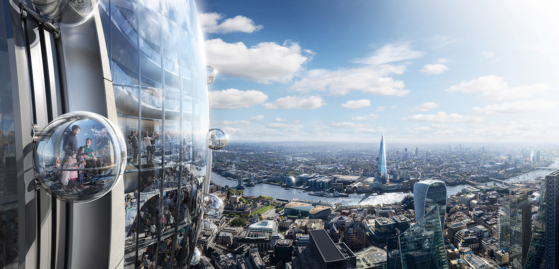 The Tulip gondola - © DBOX for Foster + Partners