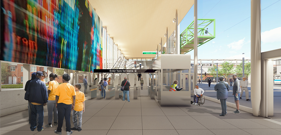 Damen Green Line Station by Perkins+Will