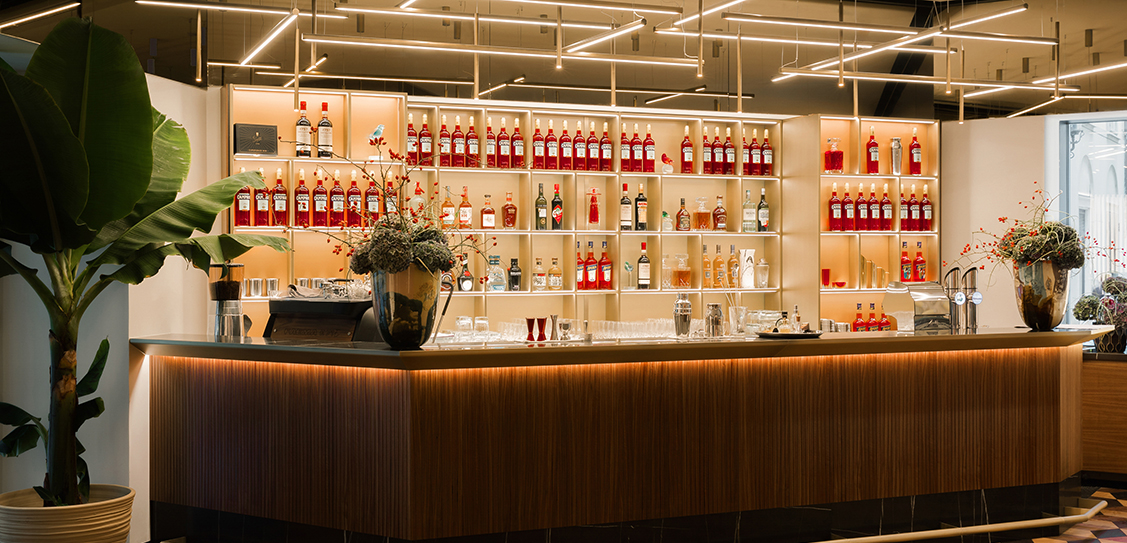 Bar Campari Vienna, designed by Matteo Thun & Partners.