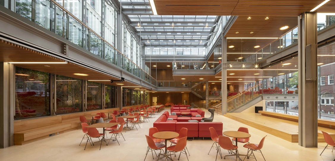 Hopkins Architects designed the new Smith Campus Center (Bruner/Cott: executive architect)