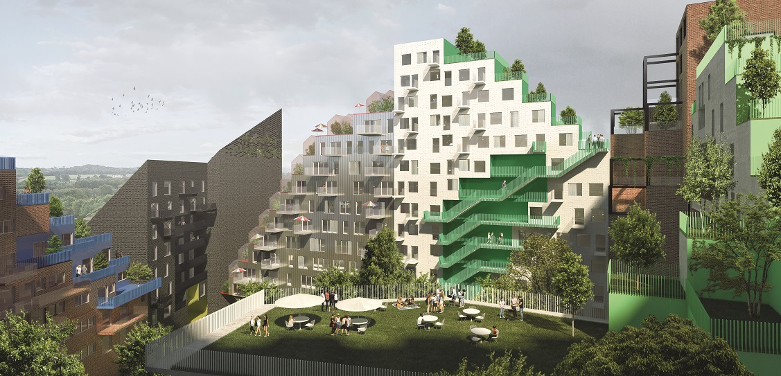 Manuelle Gautrand is developing the Hyde Park scheme in Amsterdam. Picture: LMNB
