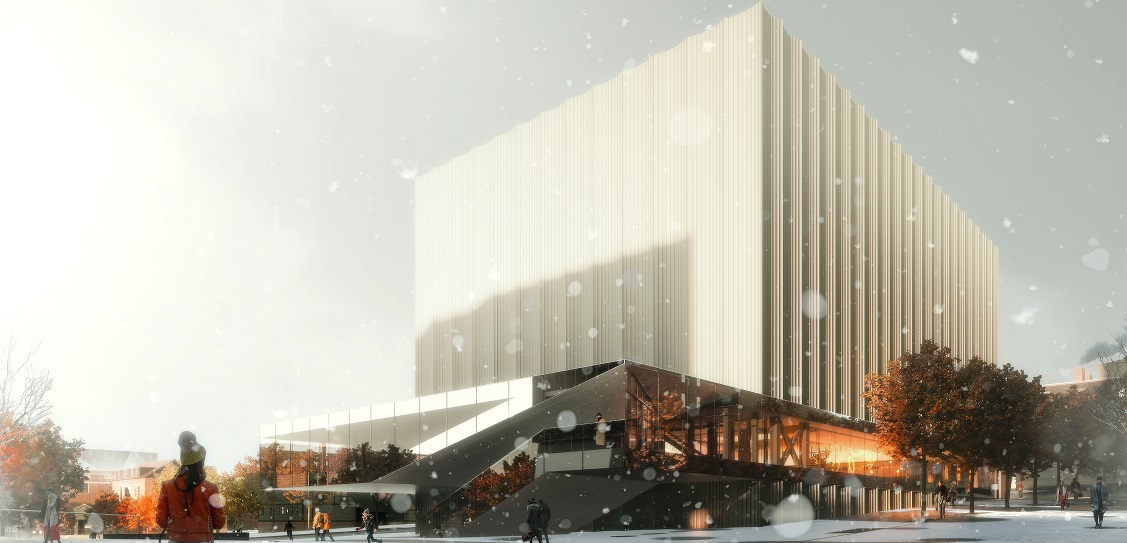 REX has designed Brown University's performing arts centre. Picture: Luxigon