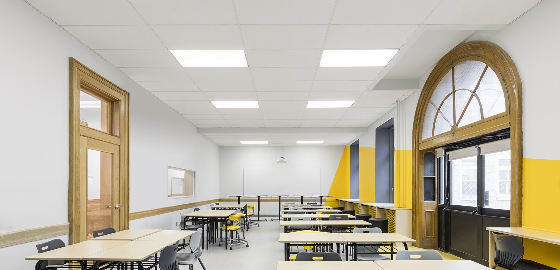 Taktik Design created the interior of Collège Sainte-Anne. Picture: Maxime Brouillet
