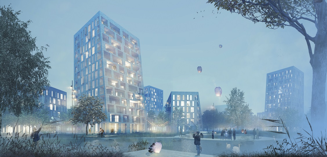 C.F. Moller and BRUT have won an urban design contest in Ostend, Belgium. Picture: C.F. Moller and BRUT