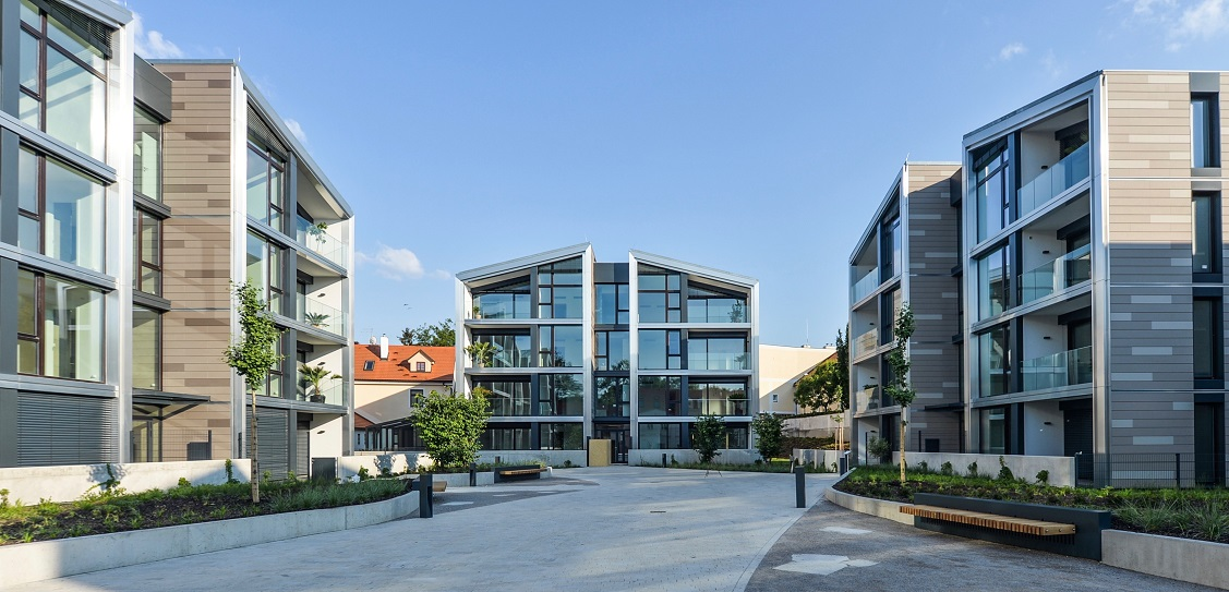 Bogle Architects designed the Šárecký Dvůr development in Prague. Picture: Filip Šlapal