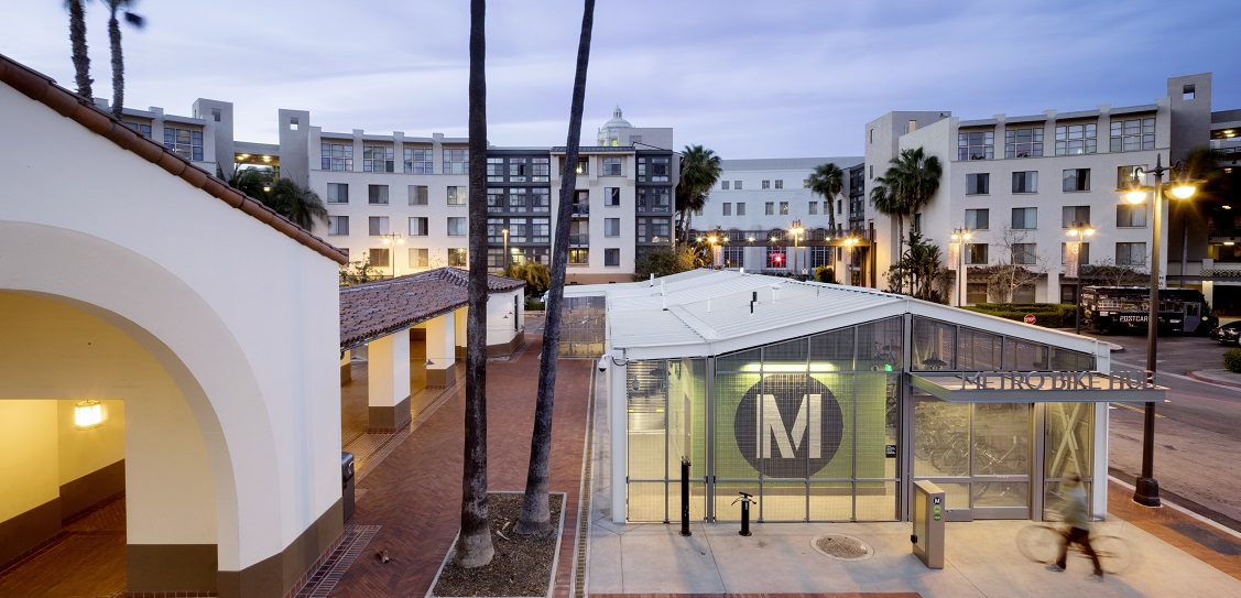 Architectural Resources Group designed LA Union Station bike hub. Picture: Panic Studio LA