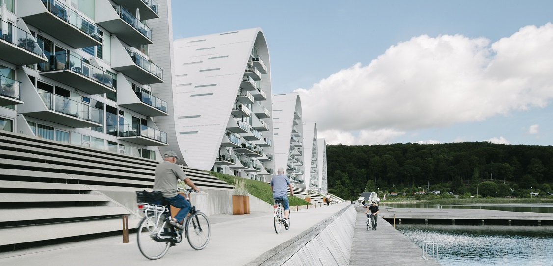 Henning Larsen designed The Wave in Denmark. Picture: Jacob Due